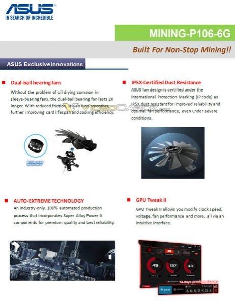 Партнёры Nvidia готовят графические ускорители для майнинга криптовалюты, основанные на GPU GP106 и GP104
