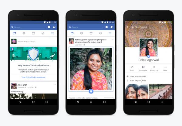 Facebook ввёл на территории Индии функцию защиты фото от скачивания и скриншотов