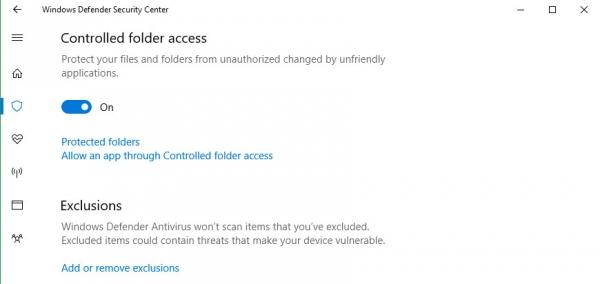 В Windows 10 появится защита от вирусов-вымогателей