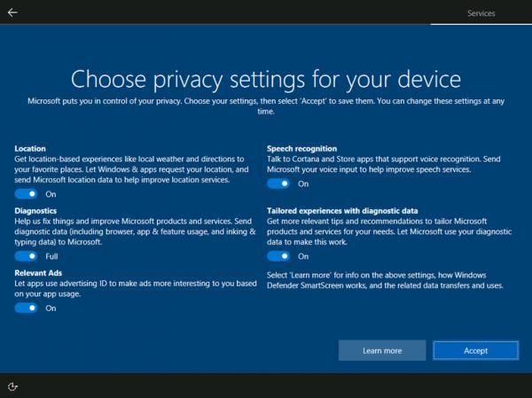 Windows 10 стала собирать меньше пользовательских данных