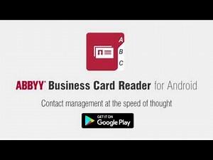 В облаке стал доступен сканер визиток ABBYY Business Card Reader