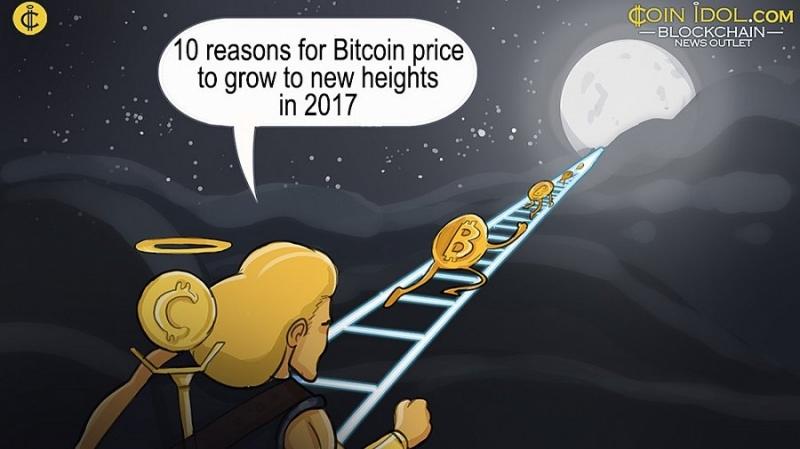 10 причин для роста цены биткоина в 2017 году