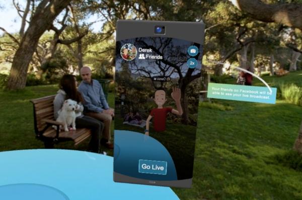 Facebook запустила прямые трансляции в VR-приложении Spaces