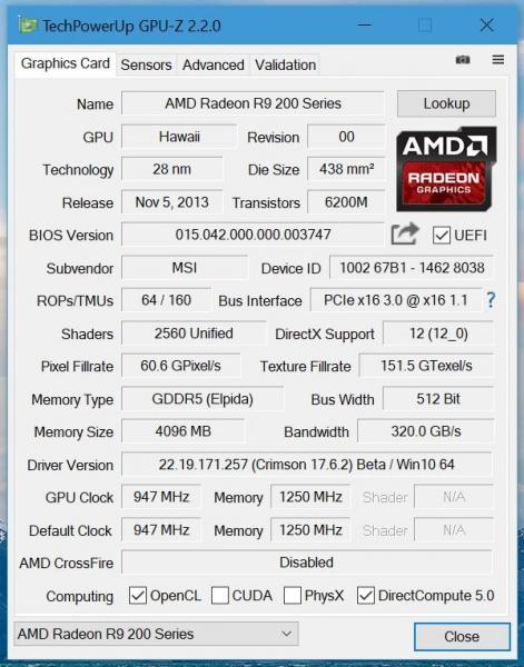 Утилита GPU-Z обновлена до версии 2.2.0