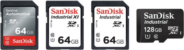 Карты памяти SanDisk Automotive SD и Industrial XI SD рассчитаны на эксплуатацию в диапазоне температур от -40ºC до 85ºC