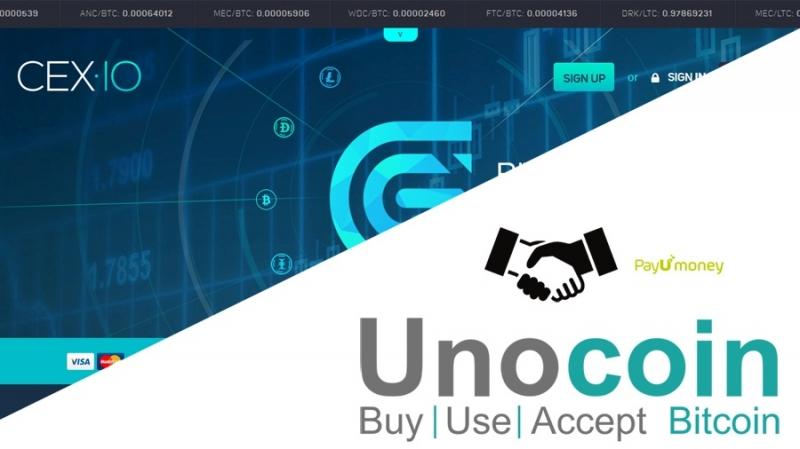 Позиции криптовалютных бирж CEX.io и Unocoin по SegWit2x