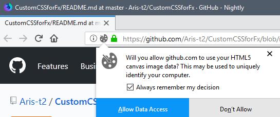 В Firefox 58 появится защита от скрытой идентификации пользователей при помощи Canvas