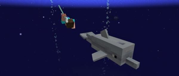 В Minecraft появятся дельфины и ряд других новшеств