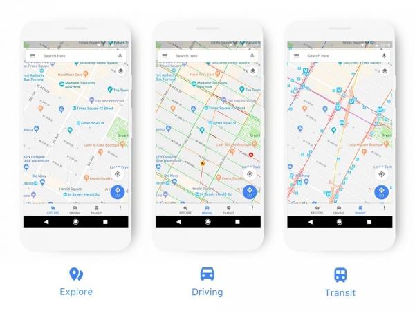 Google запустил новый дизайн для Карт