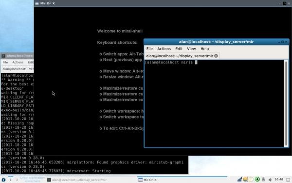 Дисплейный сервер Mir добавлен в репозитории Fedora