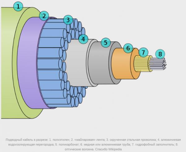 Жизнь подводных кабелей в океане