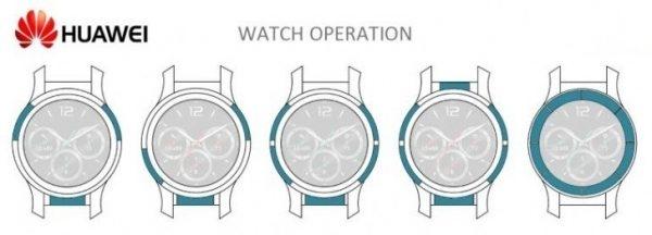 Huawei запатентовала часы с сенсорной рамкой