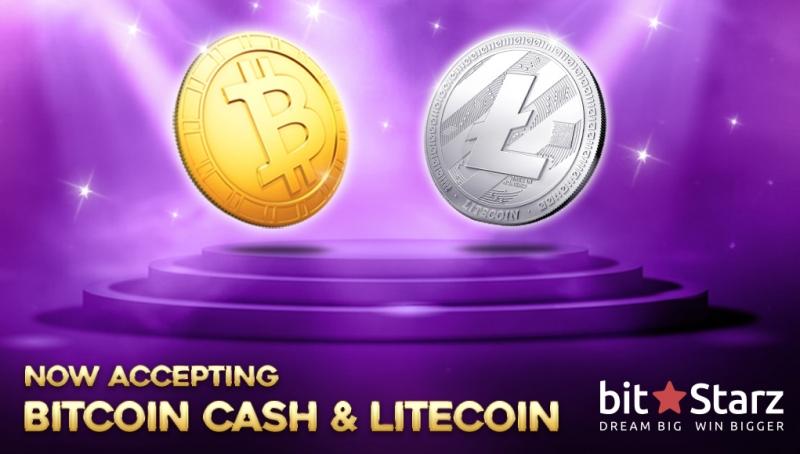 В BitStarz теперь можно поиграть на лайткоин и Bitcoin Cash