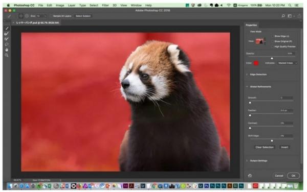 В новой версии ПО Photoshop появился инструмент выделения Select Subject