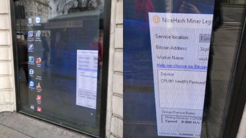В Лондоне хакеры добывали криптовалюту на рекламных щитах