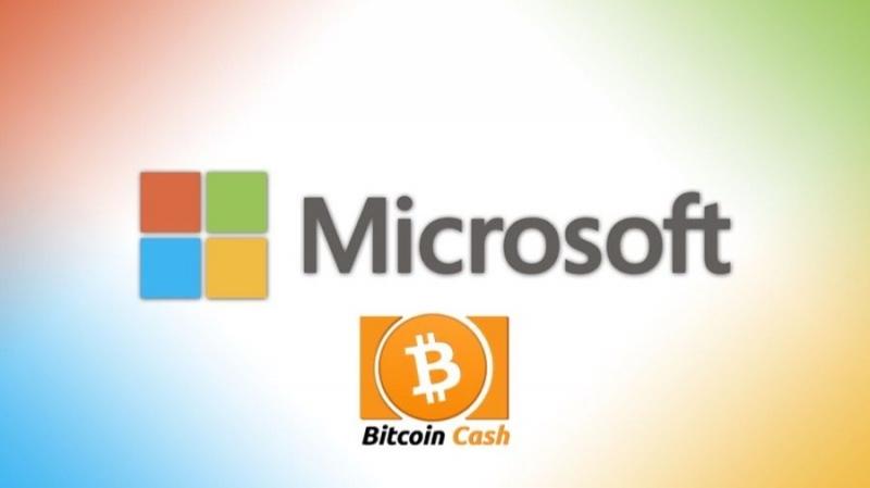 Microsoft начала принимать платежи в биткэшах