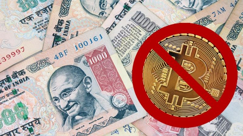 В Индии банкам запретили обрабатывать операции с криптовалютами