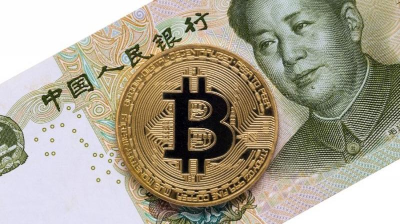 Доля китайского юаня в мировой торговле биткоином упала ниже 1%